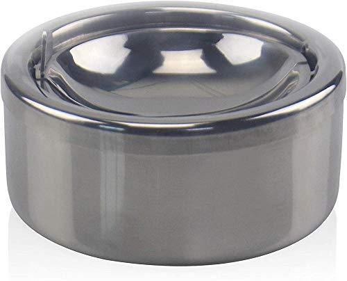 FENGDING Cenicero para cigarrillos a prueba de viento de acero inoxidable,diámetro 4 72