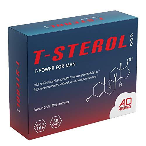 T-Power Komplex/Booster - T STEROL 600 The Original - Einführungspreis - Hochdosiert - Muskelaufbau Kapseln - Monatspackung - Made in Germany