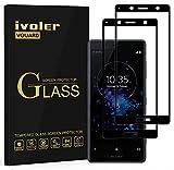 ivoler [2 Stücke] Panzerglas Schutzfolie für Sony Xperia XZ2 Compact, [Volle Bedeckung] Panzerglasfolie Folie Hartglas Gehärtetem Glas BildschirmPanzerglas