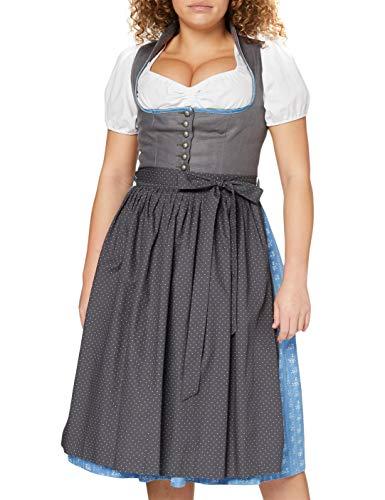 Berwin & Wolff Damen 866709 Dirndl, Mehrfarbig (Anthrazit/Hellblau 8922), 40