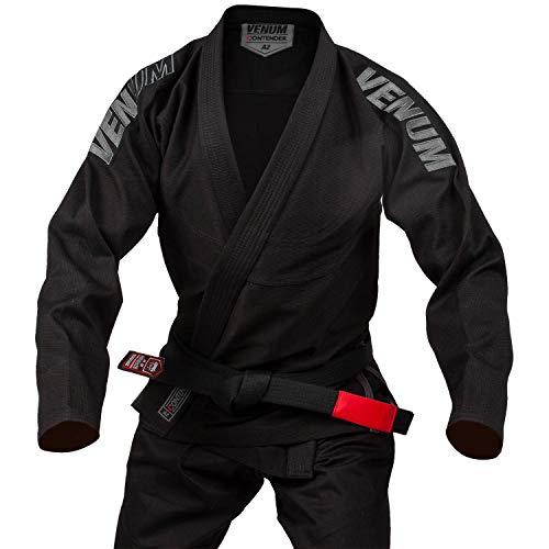 VENUM Contender EVO Kimono De Jiu Jitsu Brasileño/BJJ Gi, Unisex Adulto, Negro, A1.5