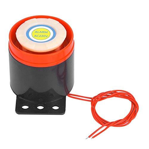 Fafeicy Mini Sirena Cablata, AC 220V 110DB Cicalino di Allarme Elettronico Cicalino Attivo con Cavo, per Allarme Antincendio, Evacuazione di Emergenza