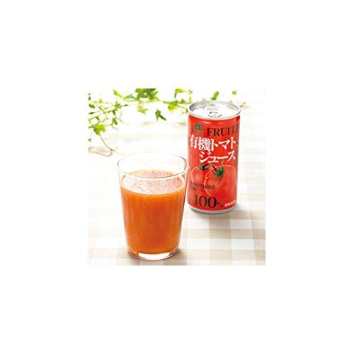 北海道産の有機トマト100%ジュース (190g×20本)有機肥料だけを使い、真っ赤に完熟するまで育てた有機栽培トマトのみを使用 朝食にも! トマトジュース