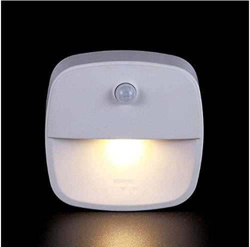 Meixian Wandlamp, oplaadbaar, bewegingsgeactiveerde led-lichtsensor, USB-nachtlampje, met magnetische safe voor kinderen, ideaal voor trapverlichting binnen en buiten, eenvoudig retro