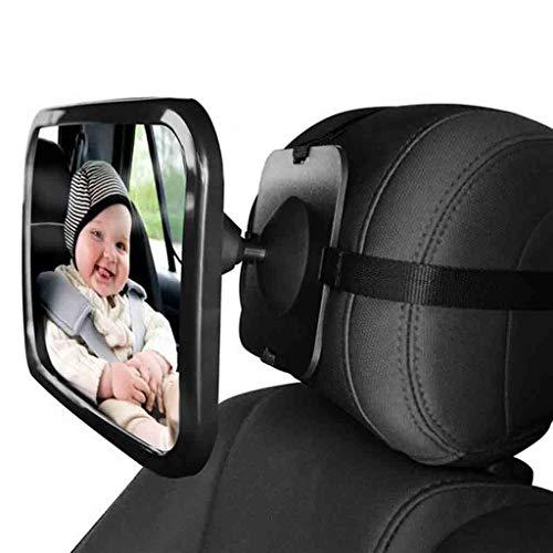 Rücksitzspiegel Für Babys 360° Schwenkbar Autospiegel Baby Bruchsicherer Babyschalenspiegel Universale Form Rückspiegel Für Kinderbeobachtung Universeller Passform-Rückansicht Spiegel