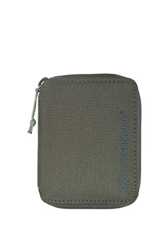 Lifeventure (LIHMM) Cartera Plegable protegida RFID para Hombre, Hecha de Material Reciclado ecológico, Color Oliva, Talla única