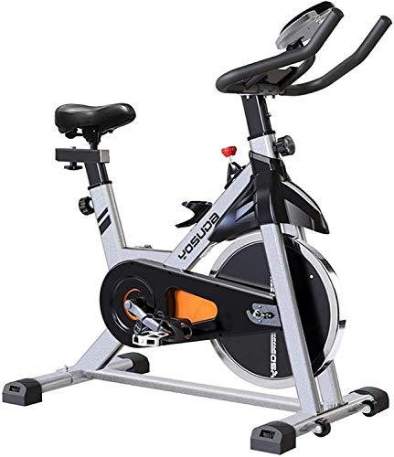 Bicicleta estática de ciclismo Yosuda para interior con soporte para iPad y asiento cómodo, volante de inercia de 35 libras