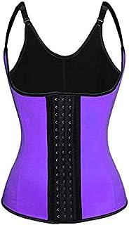 Women's Underbust Latex Corset Waist,Sport Girdle Waist Trainer Cincher Slimming Body Shaper Shapewear for Girl WomenSize L