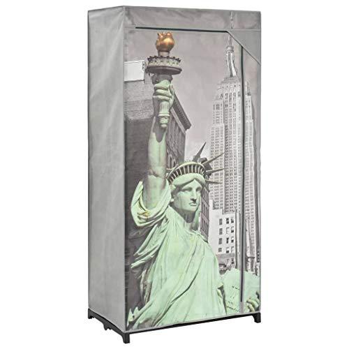 vidaXL Armario de Tela Ropero Organización de Casa Hogar Excelente Solución Almacenaje Práctico Ideal Robusto Duradero Amplio New York 75x45x160cm