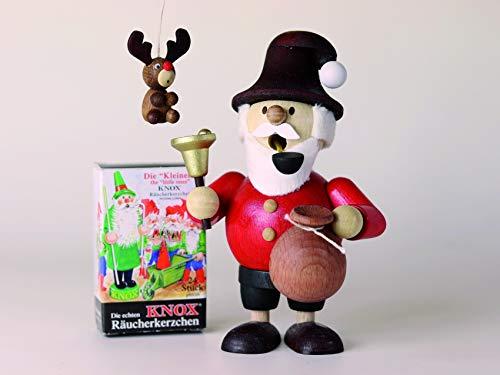 Mini-rookmannetje kerstboog cadeauset mini-rookmannetje kerstboog + 1 boomversiering + 1 pakket mini wierookkaarsen B x H = 8,0 cm x 11,8 cm NIEUW wierookfiguur rookmannetje