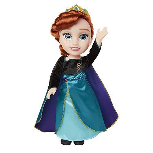 Jakks 208781 Frozen 2 Anna Puppe, Queen Anna, ionisches Outfit und Schuhe, 35,6 cm hoch