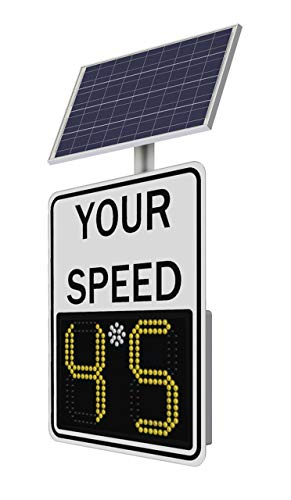 Safe Pace 100, Radar Feedback Sign, Solar Powered, 11' Display, White Face, LED Speed Limit Sign, 1485-00071