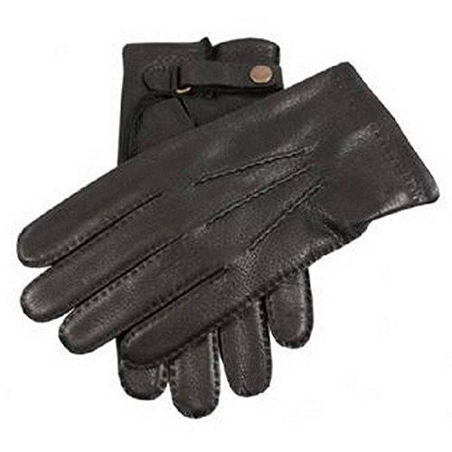 Dents Noir daim gants en cuir avec sangle 7