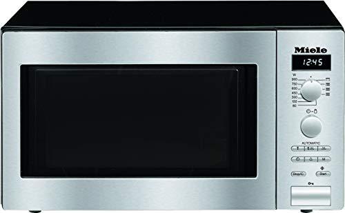 Miele M 6012 SC Stand Mikrowelle / 900 Watt / 26 l Edelstahl-Garraum / LED-Beleuchtung / Automatikprogramme / Quarzgrill / Display / Edelstahl