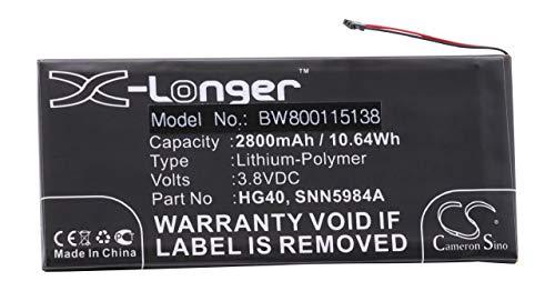 vhbw Li-Polymer Akku 2800mAh (3.8V) passend für Handy Smartphone Handy Motorola Moto XT1681, XT1683, XT1684, XT1685, XT1686, XT1687