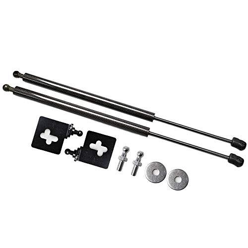 Stange Stützstangen Fit for Honda fit for CRV CRV RD4-RD9 2002 2002 2003 2004 2005 2006 2x Fronthaube Bonnet Modify Gas Struts Lift Shock Dämpfer Auto-Stützstange (Color : Black carbon fiber)