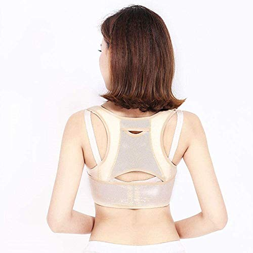 AWSERT Smart Posture Corrector for Women Men Kids, Electronic Posture Reminder with Sensor Vibration, Adjustable Upper Back Brace Straightener for Hunching (Color : L)