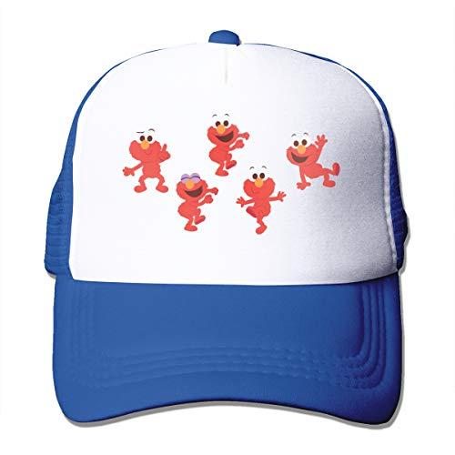 ALWAYSUV Female & Men's Unisex Logo of Elmo's World Casual Caps Adjustable Blue