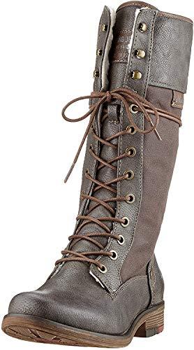 MUSTANG Damen 1295-606-20 Hohe Stiefel, Grau (Dunkelgrau 20), 41 EU