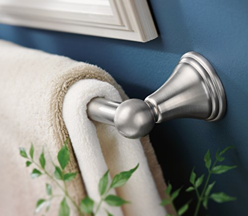 Moen DN8424BN Preston Collection 24-Inch Bathroom Single Towel Bar, Brushed Nickel
