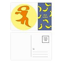 仏教サンスクリットbhaiパターン バナナのポストカードセットサンクスカード郵送側20個
