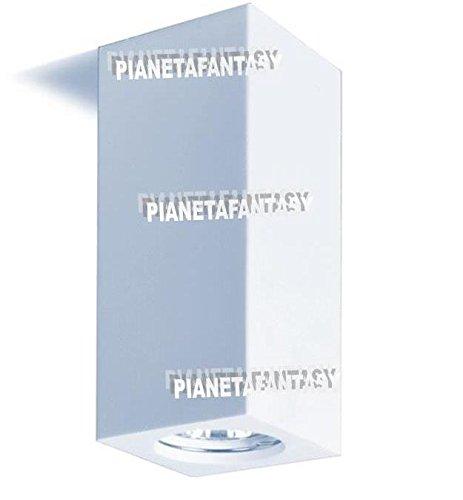 Porte spot cube intérieur en plâtre céramique PF25 lot de 10 pièces + douille GU 10 pour ampoules LED