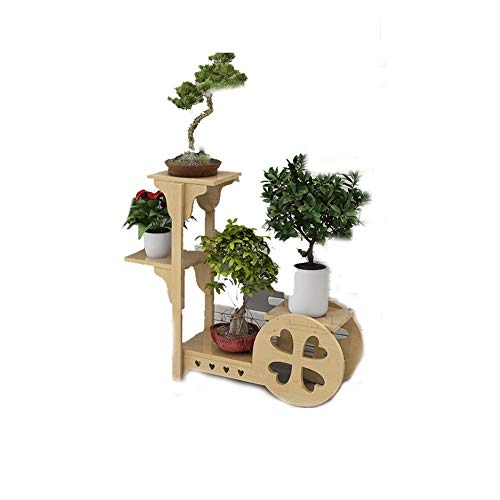 Small Love Shape Design Solid Wood Plant Rack