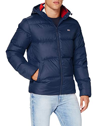 Tommy Jeans Herren TJM ESSENTIAL DOWN JACKET_DM0DM08762 Jacke, Marineblau (Twilight Navy), M