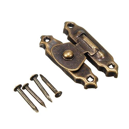 Bronze dunkel 26* 16mm Messing Antik Decor Schmuck Schmuckkästchen Holz Box Überfalle Verschlüsse Latch Haken 4mit 16Schrauben