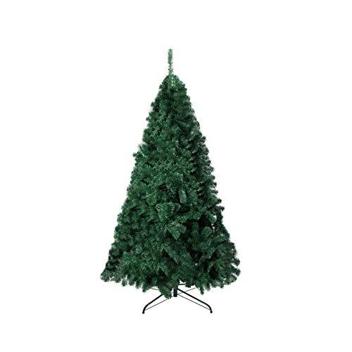 TopVita Künstlicher Weihnachtsbaum hochwertiger Tannenbaum Christbaum, mit Metallständer Material PVC, 210 cm Grün, Innen und Außenbereich