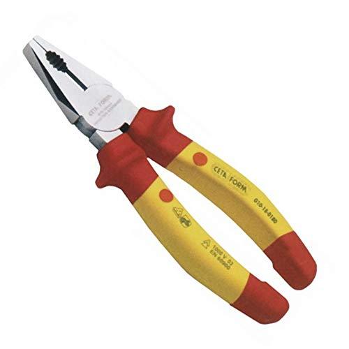 Alicate Universal VDE | Medida 180 mm. Acero especial para Herramientas. Mango con fundas de plástico.