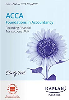 RECORDING FINANCIAL TRANSACTION (FA1) - STUDY TEXT