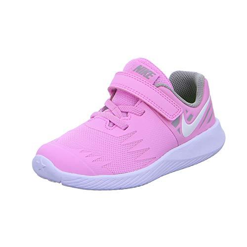 Nike Unisex Kinder Star Runner (TDV) Niedrige Hausschuhe, Mehrfarbig (Pink Rise/White/Atmosphere Grey 602), 19.5 EU