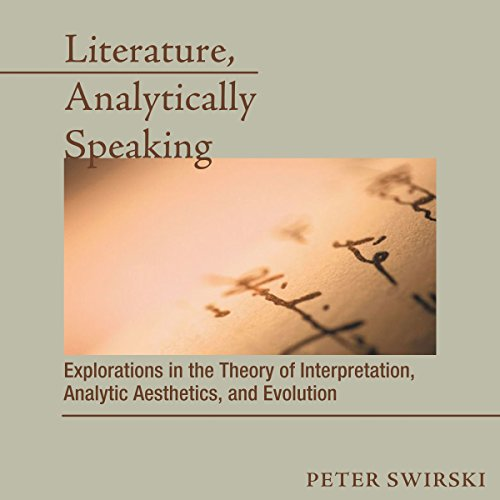 Literature, Analytically Speaking audiobook cover art