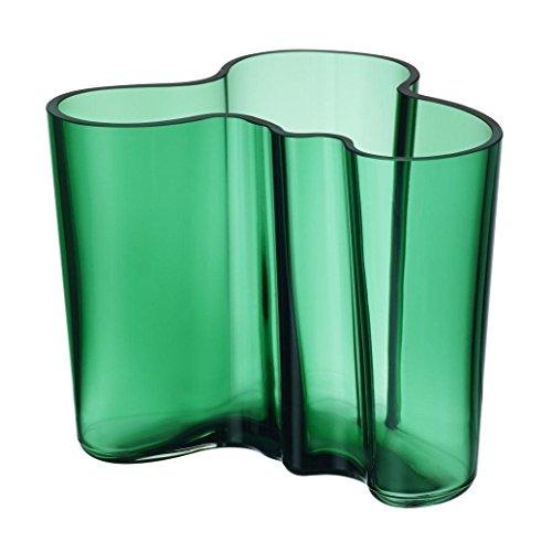 Iittala Alvar Aalto - Vaso in Vetro, Verde, 12 x 15 x 12 cm