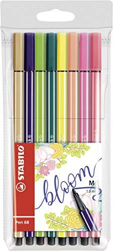 Stabilo 68/03-8-16 Pen 68 Living Colors Filzstifte, mittlere Spitze, 8 Stück