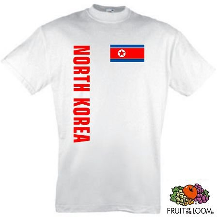 world-of-shirt Herren T-Shirt Nordkorea / Northkorea Trikot 2-