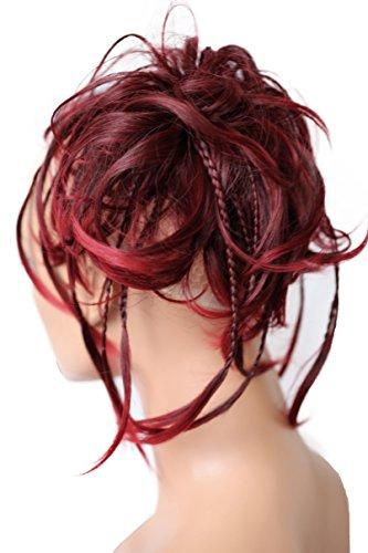 PRETTYSHOP XXL Postizo Coletero Peinado alto, VOLUMINOSO, rizado, Moño descuidado mezcla...
