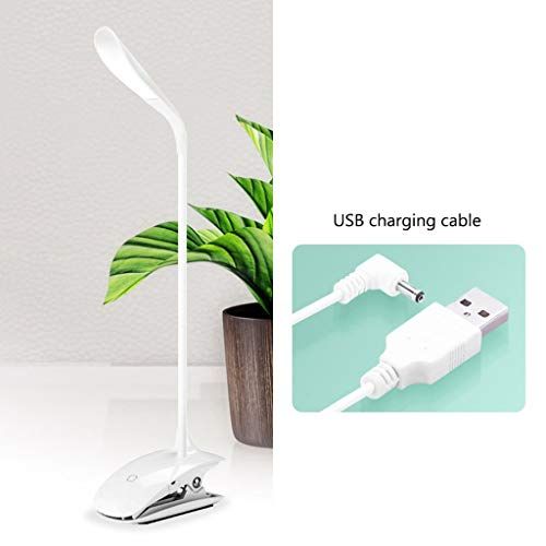 JLXW Led-bureaulamp, dimbare led-nachttafellamp, USB-oplader, clamp-on crafts licht, oogbescherming, nachtlampje voor de slaapkamer in de woonkamer