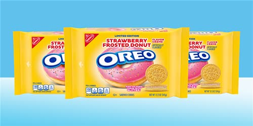 Oreo Strawberry Frosted Donut Limited Edition Family Size – 345 gram