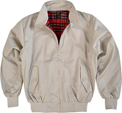Original GearUp® Harrington Jacke English Style in 12 verschiedenen Designs wählbar Farbe Beige Größe XXL