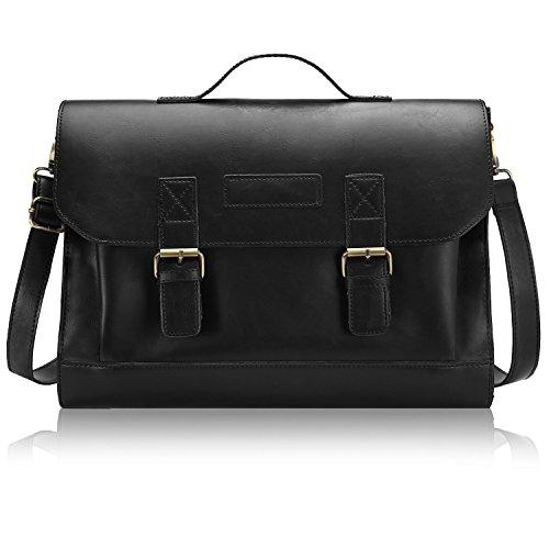 Compact Leather Messenger Bag