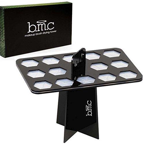 BMC 14 Large Makeup Brush Holder Organizer Folding Collapsible Air Drying Tower
