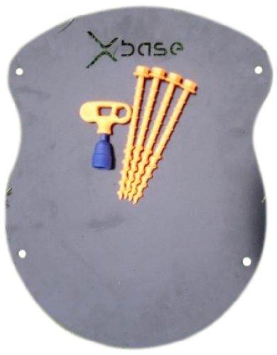 Xbase® 3D Training Experience Xtube Indoorset bodemplaat zwart met plakband 25 m, zwart, 26740381