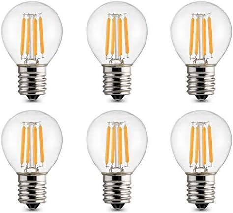 MD Lighting 6 Pack S11 LED Bulbs E17 Edison Globe Light Bulbs 20 Watt Equivalent E17 Intermediate product image