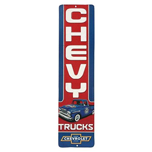 Open Road Brands Chevrolet Blue Vertical Truck Die-Cut Wall Art