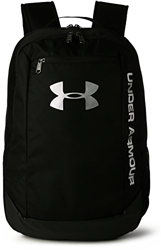 Under Armour UA Hustle Backpack LDWR Mochila, Hombre, Negro (Black/Black/Silver 001), Talla única