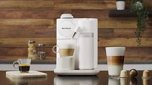 De'Longhi Nespresso Gran Lattissima EN650B - Cafetera monodosis de cápsulas (con depósito de leche compacto, 19 bares, 9 recetas, apagado automático) color blanco