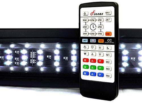 """Finnex Planted+ 24/7 LED Klc Aquarium LED Light, Automated Full Spectrum Fish Tank Light, 46.5-48"""", Black (KL-C48A)"""