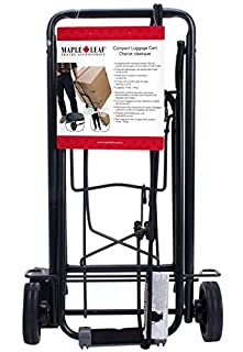 Maple Leaf ML6226BK Compact Luggage Cart, International Carry-on, Black (B00HQYMD9E) | Amazon price tracker / tracking, Amazon price history charts, Amazon price watches, Amazon price drop alerts